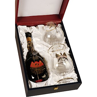 Constitucion Brandy estuche oro de lujo botella 70 cl + 2 copas botella 70 cl + 2 copas