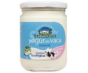 El Cantero de Letur Yogur natural desnatado de vaca 0% ecologico Tarro 420 g