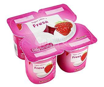 PRODUCTO ALCAMPO Yogur con sabor a fresa 4 x 125 g