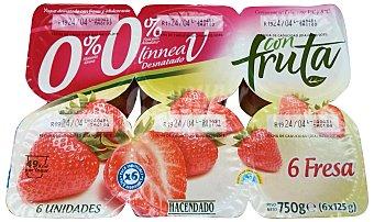 PRODUCTO RECOMENDADO Yogur desnatado fresa Pack 6 x 125 g - 750 g