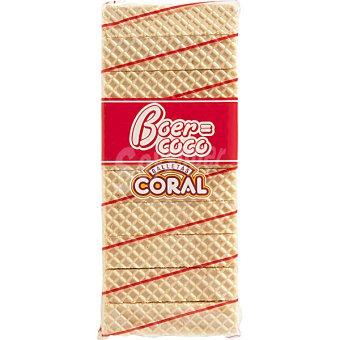 CORAL galletas de barquillo rellenas de coco paquete 450 g