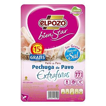 ElPozo Pechuga de pavo lonchas finas 125 g