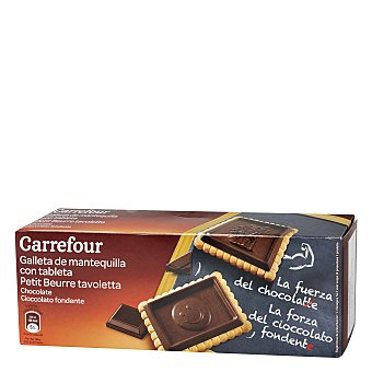 Carrefour Galleta tableta chocolate negro 150 g