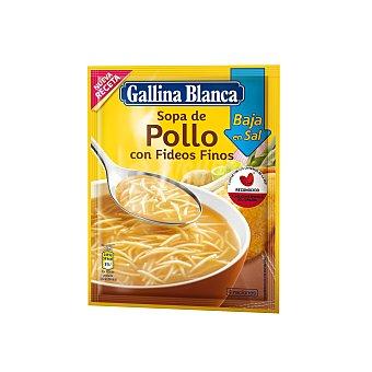 Gallina Blanca Sopa de pollo con fideos finos, bajo en sal Sobre 35 gr