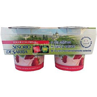 Señorio de Sarria Yogur con fresas sin aditivos Pack 2 unidades 125 g
