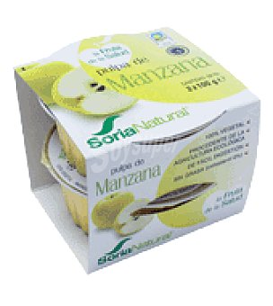 Soria Natural Pulpa de manzana eco Pack de 2x100 g
