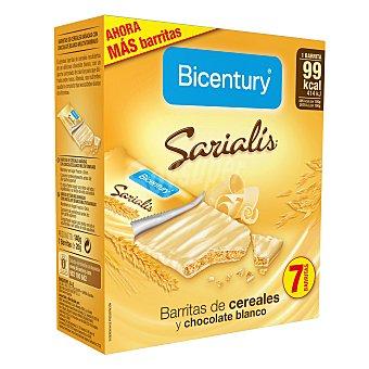 Bicentury Barritas de cereales y chocolate blanco 7 ud