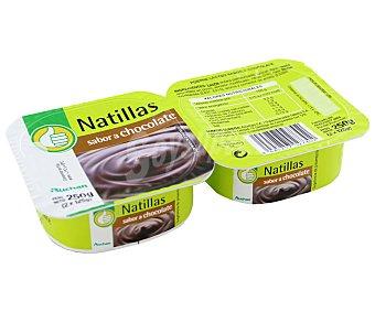 Productos Económicos Alcampo Natillas de chocolate 2 unidades de 130 gramos