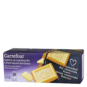 Carrefour Galleta tableta chocolate blanco 150 g