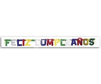 """Party Cartel articulado """"feliz cumpleaños"""" 1 unidad"""