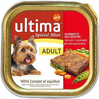 Ultima Affinity Alimento equilibrado con buey y legumbres para perros de raza mini adultos Special Mini Adult tarrina 150 g