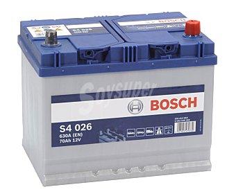Bosch Batería de coche 70Ah, arranque 630A, 12V, L: 27,1cm, A: 17,5cm, H: 22cm S4026