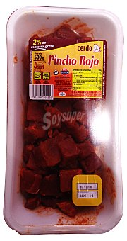 Jovi Pincho cerdo magro jamon rojo S/ varilla fresco Bandeja de 500 g