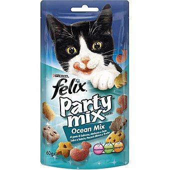 PESCADO Ocean Mix snack para gatos con sabor a salmón, blanco y trucha Paquete 60 g