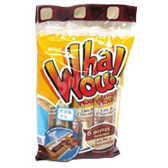 Whaou Gofre relleno de chocolate-leche 6 unid