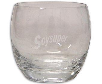 Auchan Vaso bajo para agua modelo Salto, con capacidad de 32 centilitros y fabricado en vidrio de color negro 1 Unidad