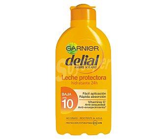 Delial Garnier Leche solar hidratante con factor de protección 10 (bajo) 200 ml