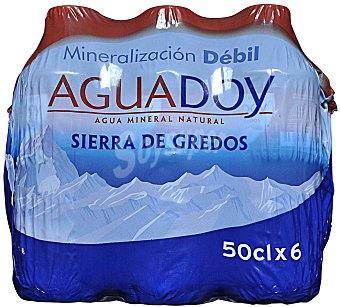 Aguadoy Agua mineral natural Pack 6 x 50 cl - 300 cl