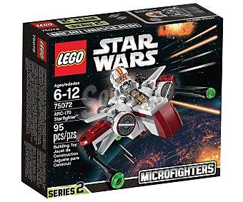 LEGO Juego de construcción Star Wars Microfighter ARC-170 Starfighter, 95 piezas, modelo 75072 1 unidad