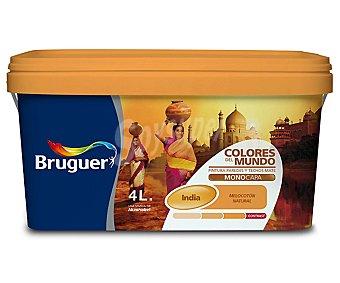 Bruguer Pintura plástica de interior, monocapa, de color melocotón intermedio India, de la serie colores del mundo 1 unidad