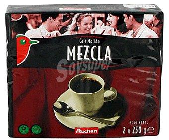 Auchan Café Molido Mezcla de Tueste Natural 50% y Torrefacto 50% Café Molido Mezcla2x250g
