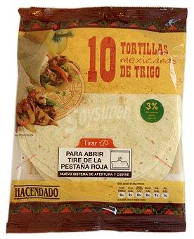 Hacendado Tortillas mejicanas de trigo Paquete 10 unidades (360 gramos)