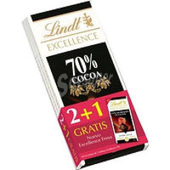 Lindt Chocolate 70% Excellence Pack 2 unid + Excelle. de fresa