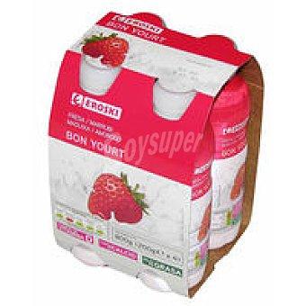 Eroski Bonyourt de fresa Pack 4x200 ml