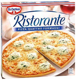 DR. OETKER RISTORANTE Pizza cuatro quesos mozzarella edamer emmental y queso azul  estuche 340 g