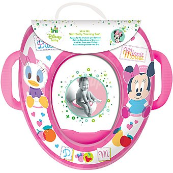 DISNEY Donald y Minnie Reductor mini W.C. acolchado con asas en color rosa