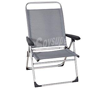 PROFILINE Silla plegable con 5 posiciones para camping y playa. Fabricada en aluminio, con asiento y respaldo de textileno, 75x68x108 centímetros y peso máximo soportado de 130 kilos 1 unidad