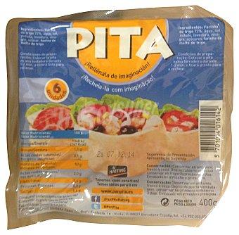 JACOB'S PITA Pan pita blanco Paquete 6 unidades (400g)