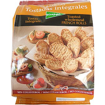 El Corte Inglés Barritas de pan tostadas integrales bolsa 225 g 20 unidades