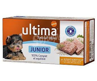 Ultima Affinity Alimento para perros júnior alimento con arroz y pollo con leche Pack 4 x 150 g