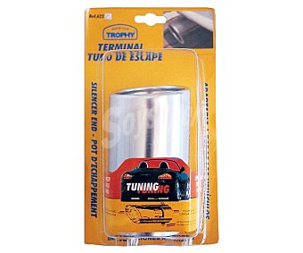Trophy Terminal de salida de escape fabricado en aluminio, de forma circular y fácil instalación (solo 3 tornillos) trophy