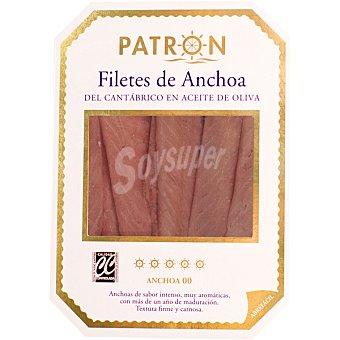 Patrón Filetes de anchoa del Cantábrico en aceite de oliva  bandeja 60 g neto escurrido