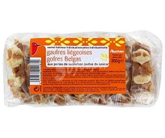 Auchan Gofres belgas con perlas de azúcar 7 Unidades (350 g)