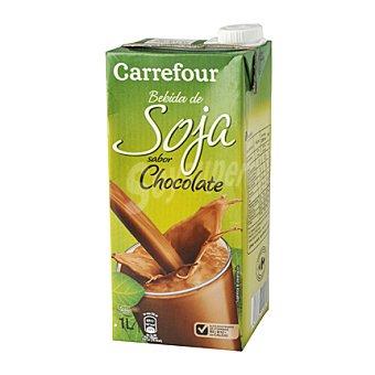 Carrefour Bebida de soja sabor a chocolate 1 l
