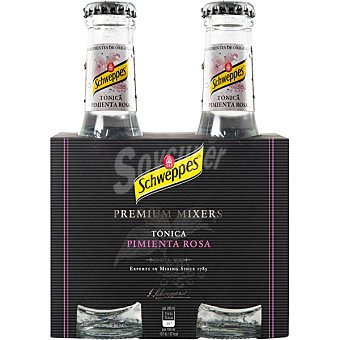 SCHWEPPES Tonica pimienta rosa  pack 4 botellas 20 cl