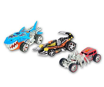 HOT WHEELS Extreme Action Surtido de vehículos motorizados Extreme Action con formas de animales, luces y sonidos WHEELS.