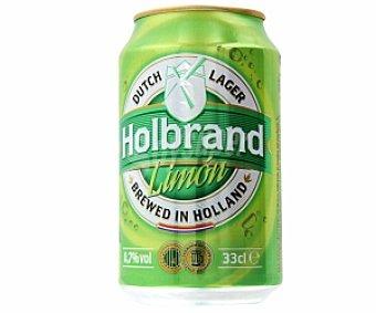 HOLBRAND Cerveza sin alcohol con limón Lata de 33 centilitros