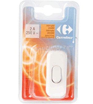 Carrefour Interruptor pasador blanco 2A 250V