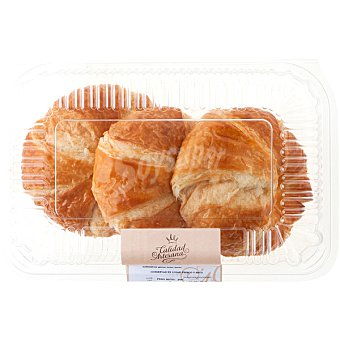 CALIDAD ARTESANA Croissant de mantequilla Bandeja 3 unidades