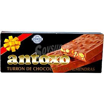 ANTOXO turrón de chocolate con almendras tableta 250 g