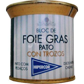 HIPERCOR bloc de foie gras pato con trozos  lata 200 g