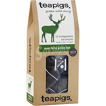 TEAPIGS Té verde Mao feng 15 bolsitas Paquete 37,50 g