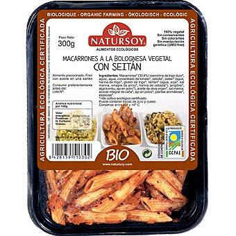 Natursoy macarrones a la bolognesa vegetal con seitán envase 300 g