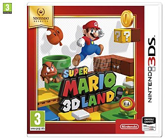 NINTENDO Super Mario 3D Land 3DS Videojuego Selects Super Mario 3D Land para Nitendo 3DS. Género: Plataforams. pegi: +3