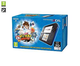 Nintendo Videoconsola 2Ds color azul más videojuego Yo-Kai Watch preínstalado. Género: lucha. PEGI: +7