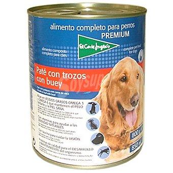 El Corte Inglés Alimento completo para perros Premium paté con trozos con buey Lata 800 g